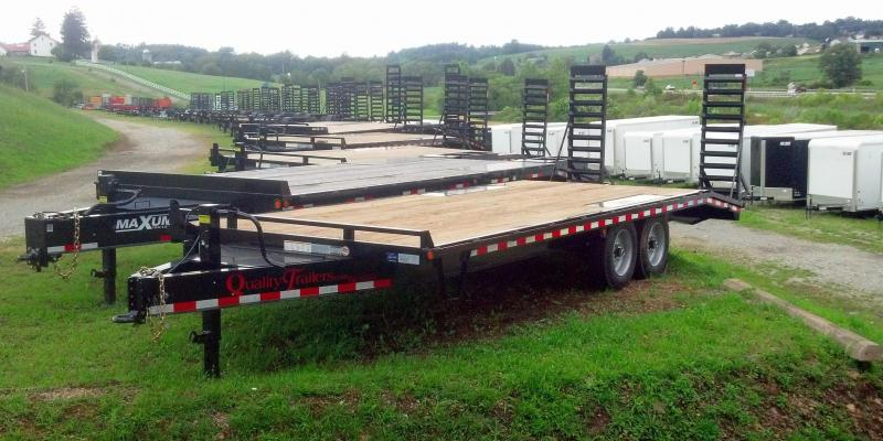 NEW 2019 Quality 18+5 HD PRO Deck Over Equipment Trailer w/ Spring Assist Ramps