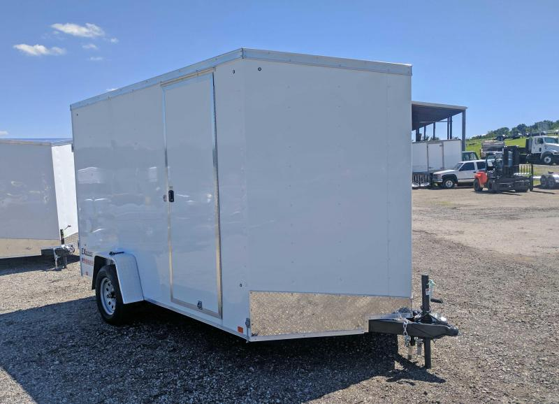 "NEW 2018 Cargo Express 7X12 EX DLX Sloped V-Nose  w/ Ramp Door & Additional 12"" Height (GREAT FOR A SIDE BY SIDE!)"