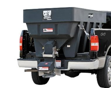 NEW SALTDOGG 2.0 Cu. Yd. Poly Hopper Salt Spreader w/ Extended Chute