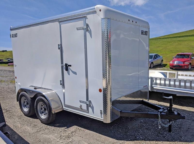"NEW 2019 Car Mate 6X12 HD Custom Cargo Trailer w/ Barn Doors (Add'l 6"" Height)"