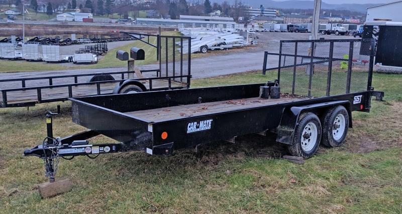 USED 2014 Car Mate 6X16 HD Utility Trailer w/Solid Steel Sides