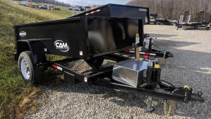 "NEW 2019 CAM 5x8 ""Advantage"" Lo Pro Dump Trailer"