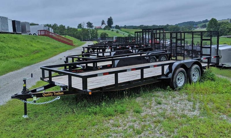 NEW 2019 Quality 7x20 General Duty Utility Trailer w/ Spring Assist Gate (No Dove)