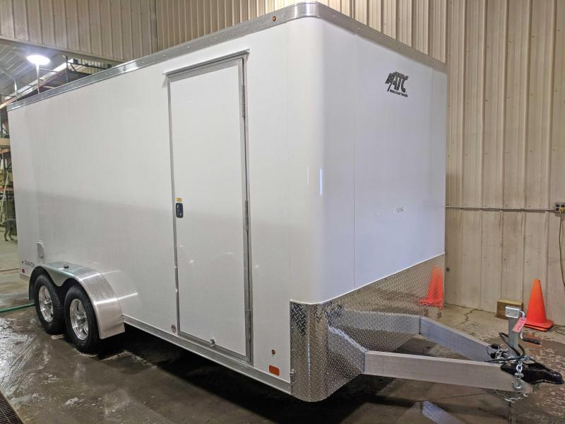"NEW 2018 ATC 7X16 ""RAVEN"" Aluminum Cargo Trailer w/Ramp & 12"" Additional Height"