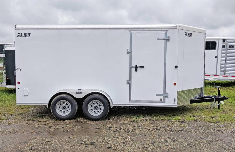 "NEW 2019 Car Mate 7X14 HD ""Advantage"" V-Nose Enclosed Cargo Trailer w/ Ramp"