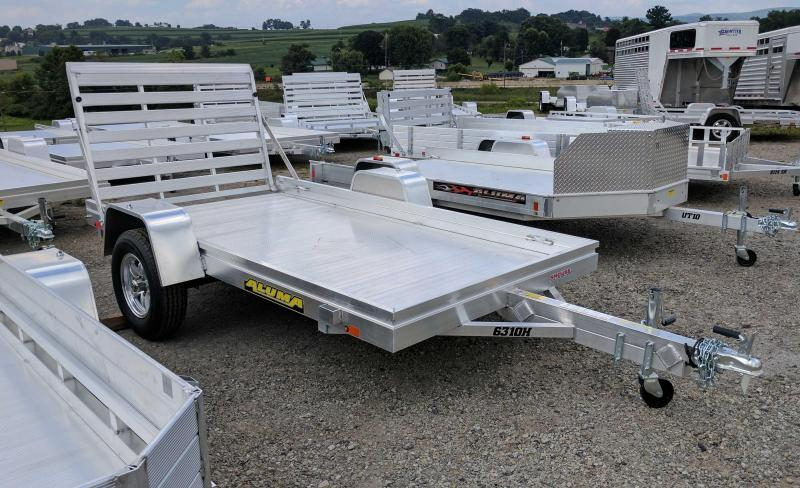 "NEW 2019 Aluma 5'3"" x 10 HD Aluminum Utility Trailer"