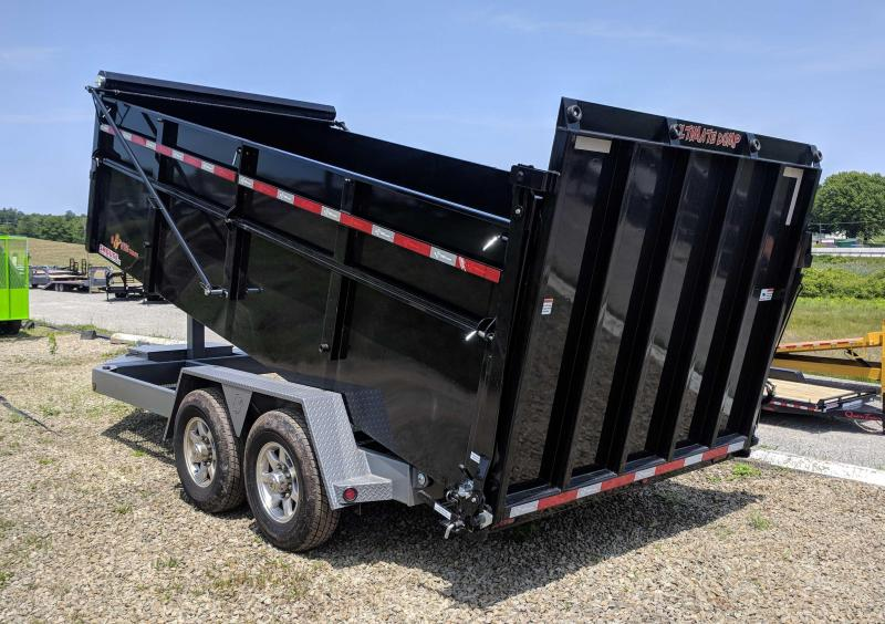"NEW 2019 B-Wise 6'10"" x 14 HD Ultimate Dump Trailer w/ Hydraulic Gate"