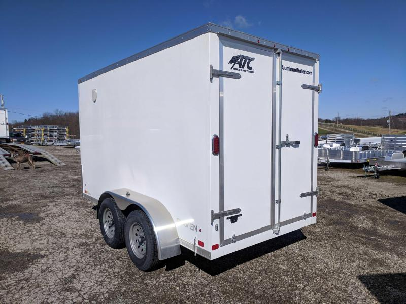 "NEW 2018 ATC 6X12 HD ""RAVEN"" Aluminum Cargo Trailer w/Barn Doors"