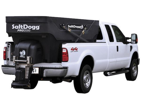 (1 LEFT!!) NEW SALTDOGG PRO2000 2.0 Cu. Yd. Poly Hopper Salt Spreader