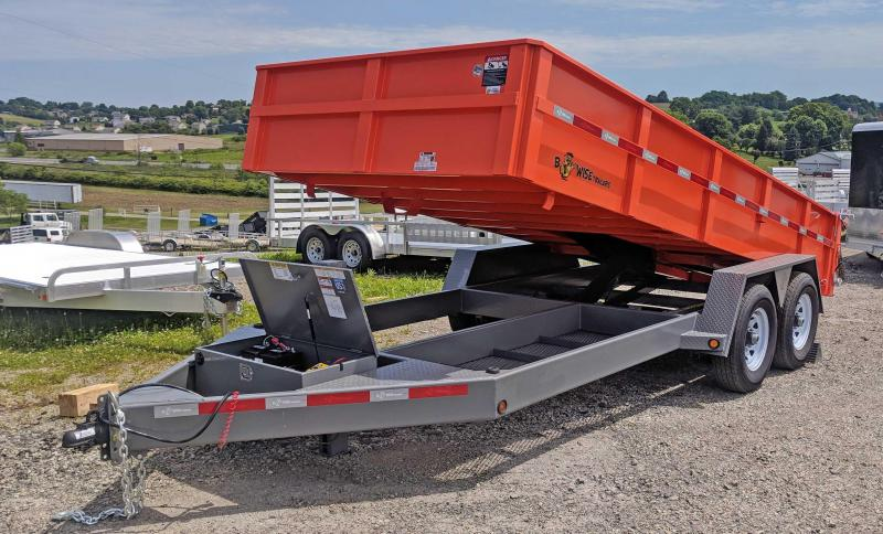 "NEW 2019 B-Wise 6'10"" x 16' HD Lo Pro Equipment Dump Trailer"