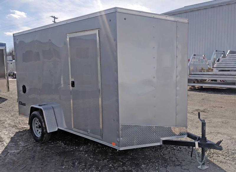 NEW 2019 Cargo Express 6X12 EX DLX Sloped V-Nose Trailer w/Barn Doors