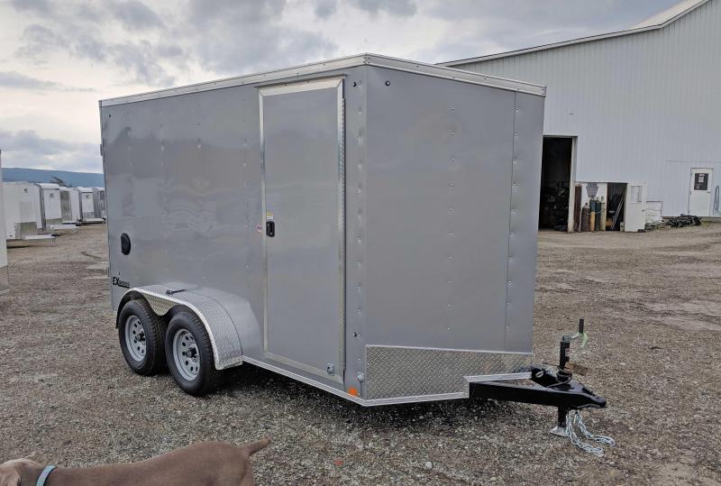 NEW 2020 Cargo Express 7x14 EX DLX Sloped V-Nose Cargo Trailer w/ Barn Doors