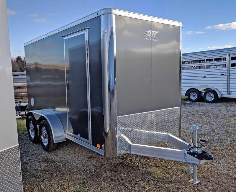 "NEW 2019 ATC 6X12 ""RAVEN"" Tandem Aluminum Cargo Trailer w/Barn Doors"