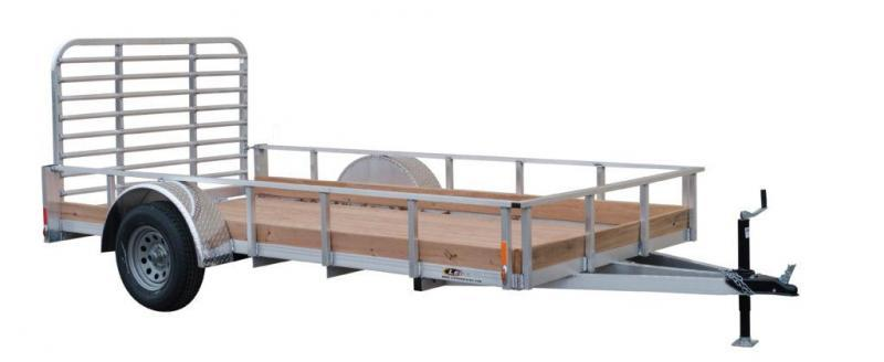 NEW 2021 Legend 6x10 Open Aluminum Low Side Trailer w/ Wood Floor