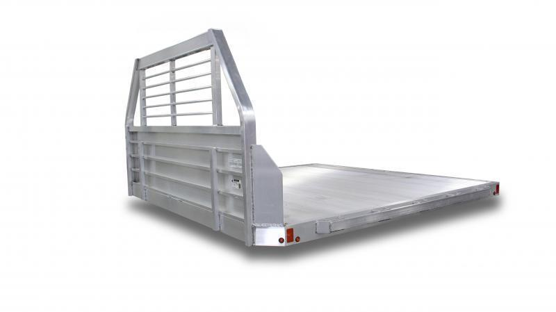 "NEW Aluma 96"" x 9'5"" Dual Wheel Aluminum Flat Bed"