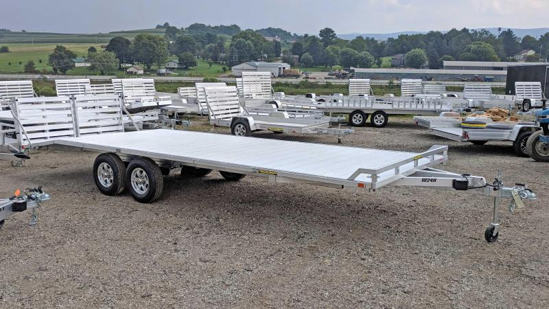 NEW 2019 Aluma 20+4 HD Deckover Tagalong Trailer w/ Twin Bi-Fold Gates
