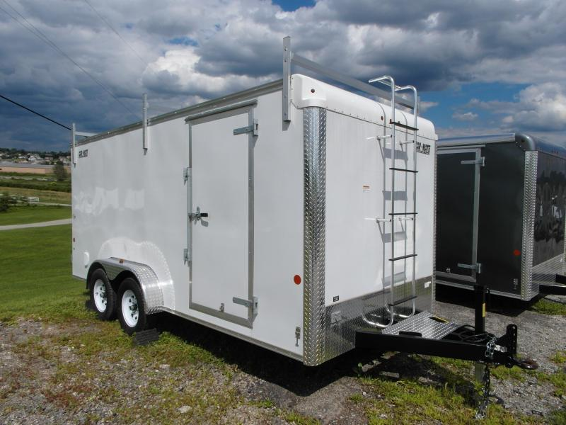 NEW 2015 Car Mate 7x16 Contractor Trailer w/ Ramp Door