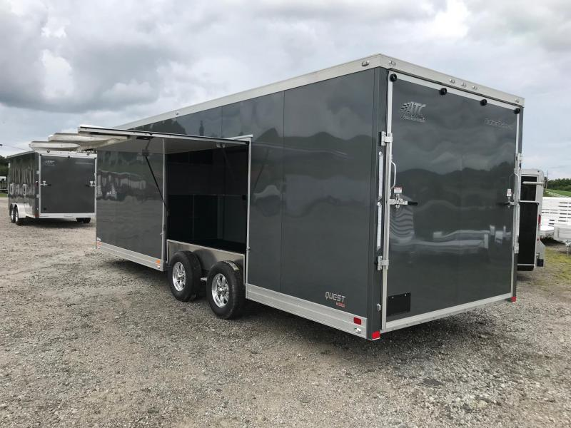 "NEW 2019 ATC 8.5 X 24 QUEST "" CH205"" Car Trailer w/ Ramp Door & Premium Escape Door"