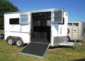 "NEW 2017 FRONTIER ""FAST TRACK"" Aluminum (2) Horse Straight Load w/ Side Ramp"