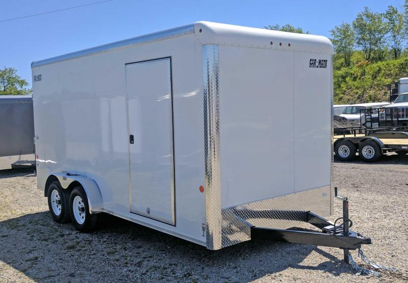 "NEW 2019 Car Mate 7x18 HD Custom Cargo Trailer w Ramp Door (12"" Add'l Height)"