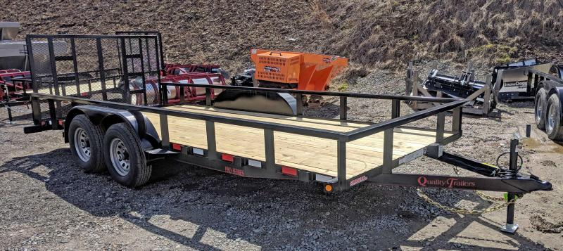 NEW 2018 Quality 7x18 PRO Utility Trailer w/Spring Assist Gate