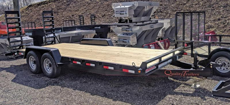 NEW 2019 Quality 18' HD General Duty Equipment Trailer w/ 2' Dove