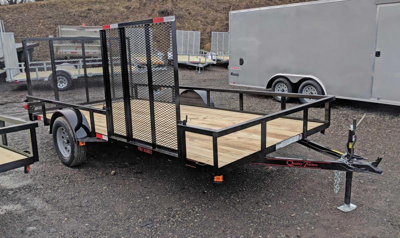 New 2019 Quality 7x14 PRO Utility Trailer w/ Side Gate & Spring Assist/Lay Flat Gate