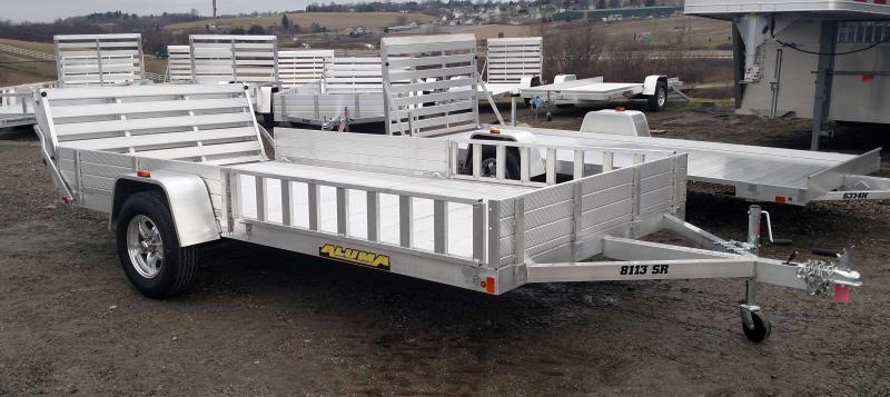 "NEW 2019 Aluma 6'9"" x 12' SR Utility Trailer w/ Side Ramps & Bi-Fold Gate"