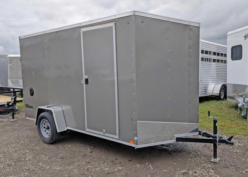 "NEW 2019 Cargo Express 6X12 EX DLX Sloped V-Nose Cargo w/ Ramp Door & 6"" Additional Height"