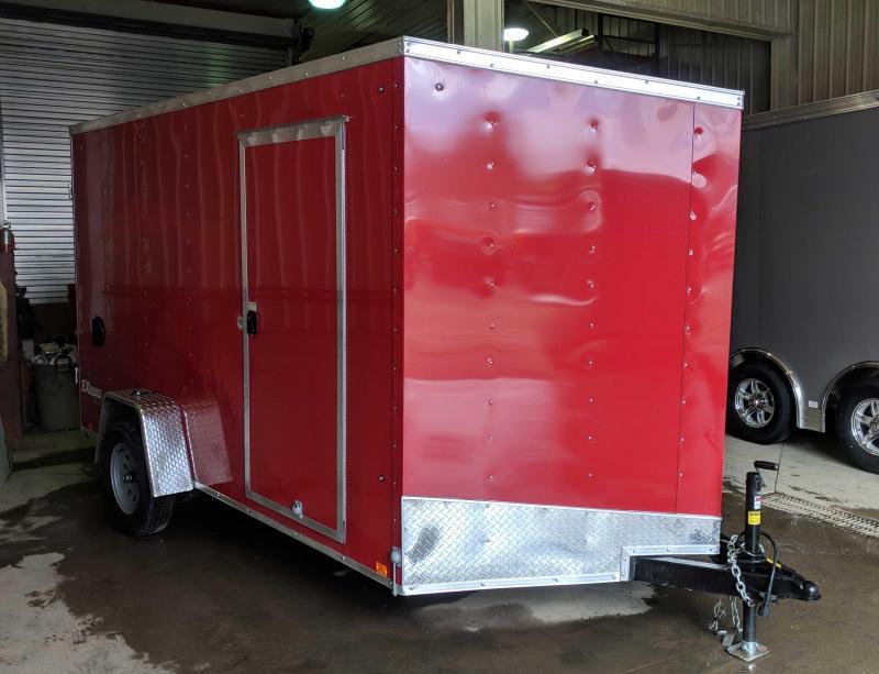 NEW 2019 Cargo Express 7X12 EX DLX V-Nose Cargo Trailer w/ Ramp