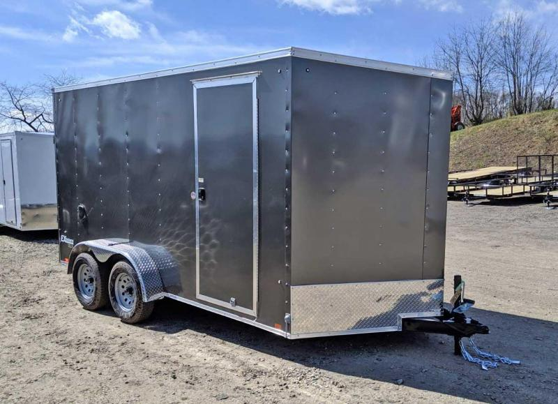 "NEW 2020 Cargo Express 7x14 EX DLX Sloped V-Nose Cargo Trailer w/ Ramp (84"" Inside Height)"
