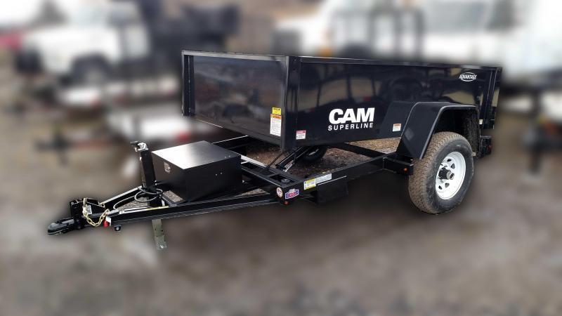 "NEW 2018 Cam Superline 5X8 ""Advantage"" Lo Pro Dump Trailer"