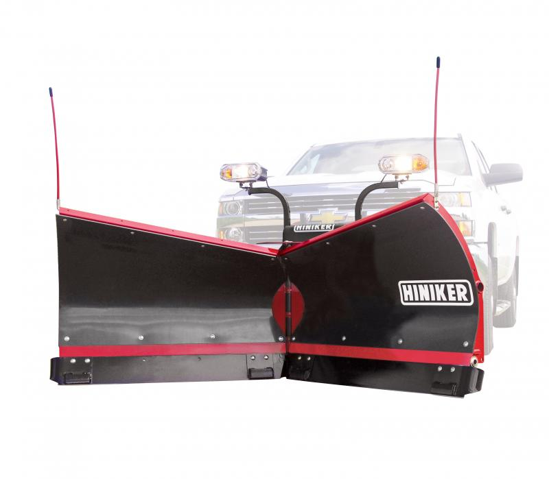 NEW 2018 Hiniker 8.5' Torsion Trip Poly V-Plow w/ Curb Guards & Wear Plates