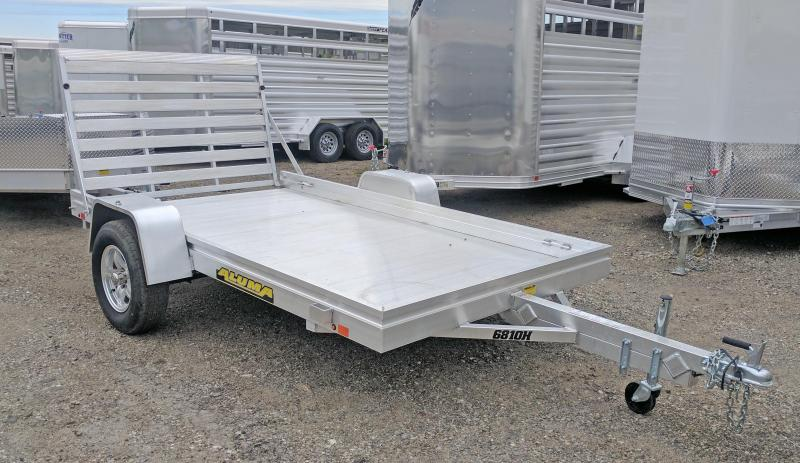 "NEW 2019 Aluma 5'8"" x 10 HD Utility Trailer"