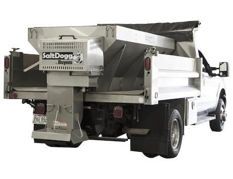 "NEW Saltdogg 3.0 Cu Yd 9'10"" Gas Engine Stainless Steel Mid-Size Hopper Spreader w/ Standard Chute"