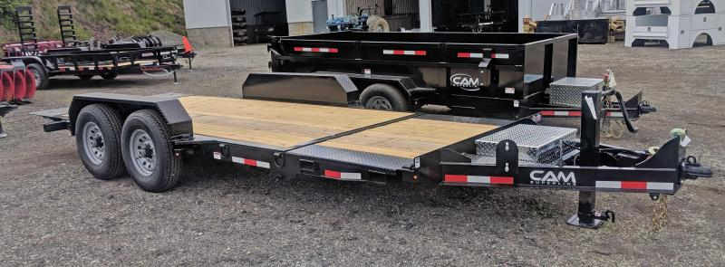NEW 2019 CAM 19' (4+15) XW Lo Pro Split Tilt Equipment Trailer