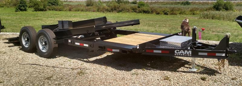 NEW 2018 Cam Superline 19' (4+15) Lo Pro X-Wide Split Tilt Trailer