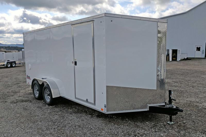 "NEW 2018 Cargo Express 7X16 XLW Sloped V-Nose w/Barn Door & Additional 6"" Height"
