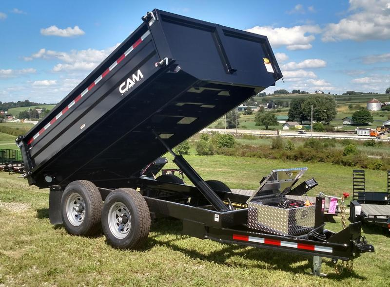 NEW 2018 Cam Superline 6X10 Deckover Dump Trailer w/ Drop/Removable Sides