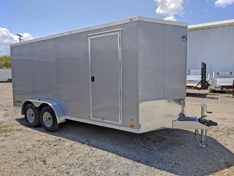 NEW 2018 ATC 7X16 Raven V-Nose Aluminum Cargo Trailer w/Rear Ramp Door