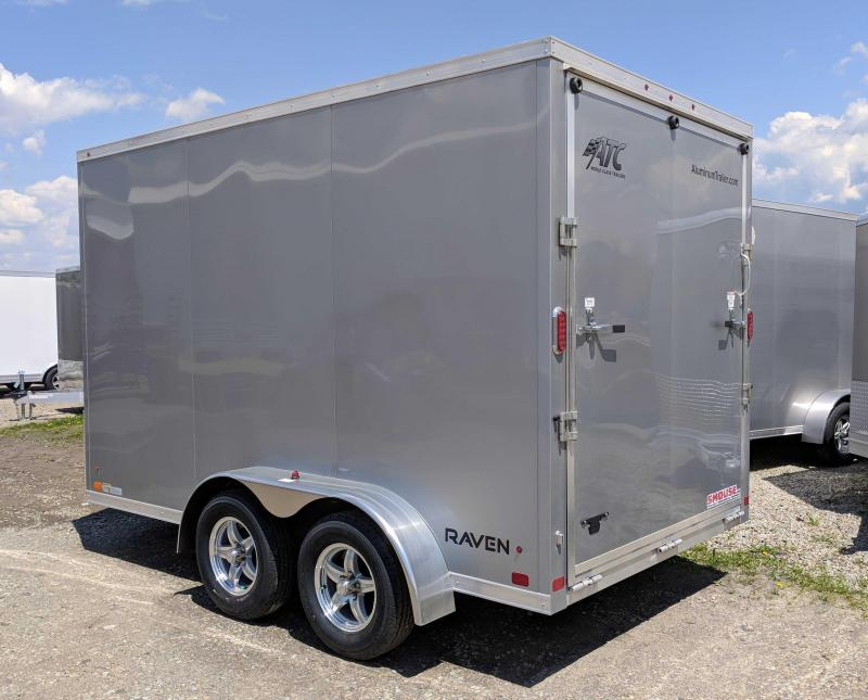 "NEW 2019 ATC 7x12 HD Raven Cargo Trailer w/ Ramp Door & 12"" Additional Height"