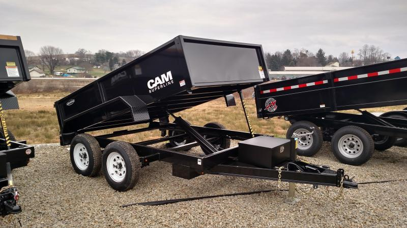 "NEW 2019 Cam 6X10 ""ADVANTAGE"" Lo Pro Dump Trailer"