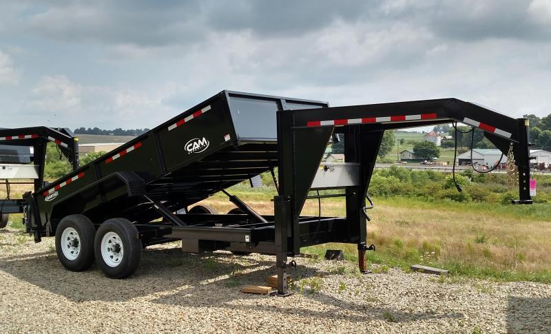 "NEW 2018 CAM  Advantage 6'8""x14' HD Lo Pro Gooseneck Equipment Dump"