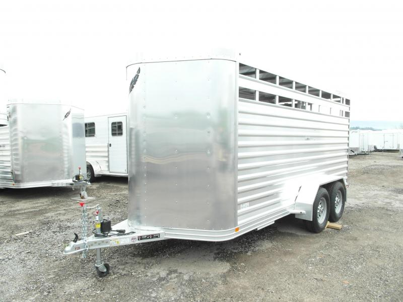 "NEW 2017 Featherlite Aluminum 16' Stock Trailer -6'6"" H"