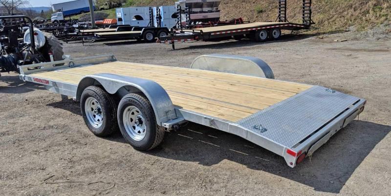 NEW 2019 Load Rite 18' GALVANIZED Car Hauler w/ Underbody Ramps