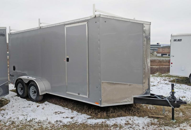 "NEW 2019 Cargo Express 7X16 HD XLW Sloped V-Nose Cargo w/Barn Doors & 6"" Additional Height"