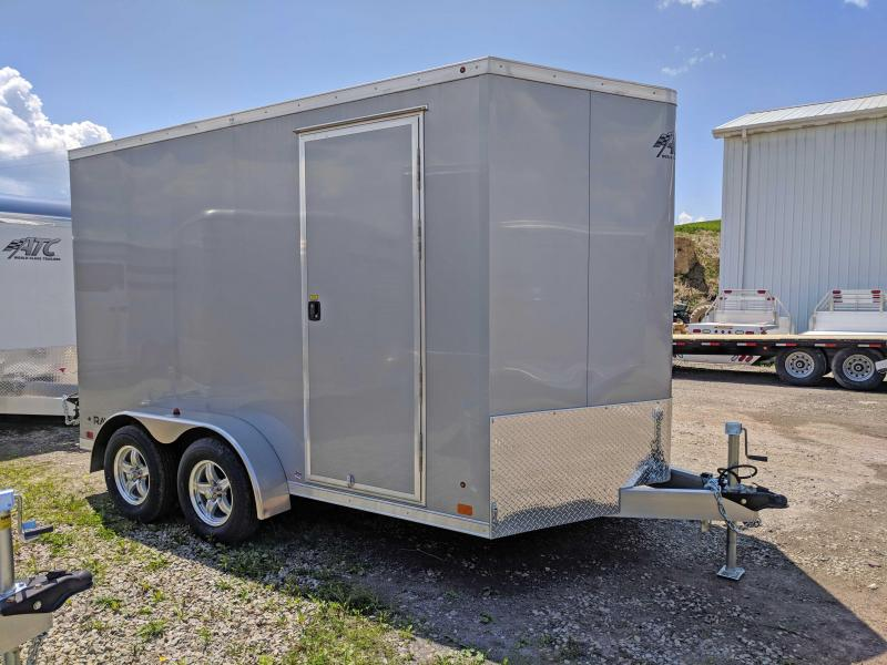 NEW 2018 ATC 7X12 V-Nose Raven Aluminum Cargo Trailer w/Rear Ramp Door