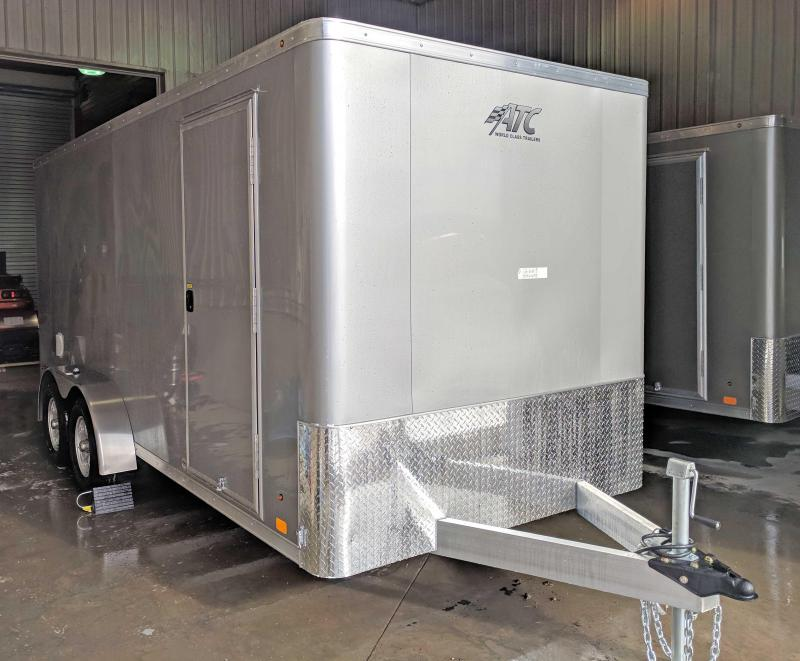 NEW 2018 ATC 7X16 Raven Aluminum Cargo Trailer w/Rear Ramp Door