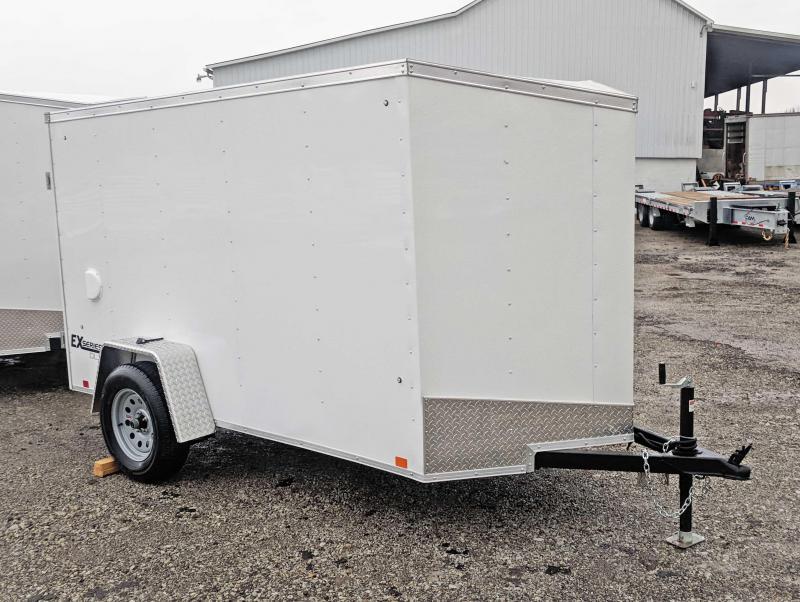 NEW 2019 Cargo Express 5x10 EX DLX Sloped V-Nose w/ Barn Doors