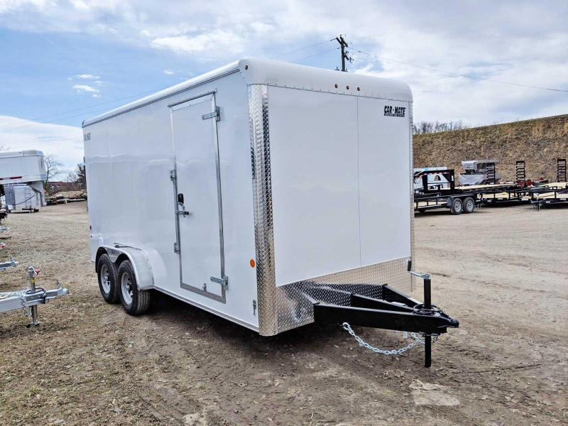 "NEW 2019 Car Mate 7X16 HD Custom Enclosed Cargo Trailer w/ Ramp (12"" Add'l Hgt)"